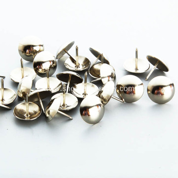 Round Brass Upholstery Tacks Studs