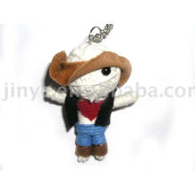Promotion gift Handmade Cowboy String Voodoo Doll Keychain