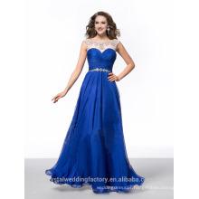 Alibaba Elegant Long New Designer Royal Blue Color CHiffon Beach Evening Dresses Or Bridesmaid Dress LE24