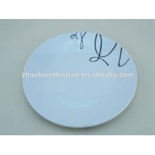 Plato de cena de la porcelana de 10 o de 12 pulgadas, placas al por mayor de la cena