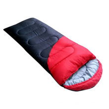 -5-15 Degree Flanne Couple Hollow Cotton Sleeping Bag -Red&Black