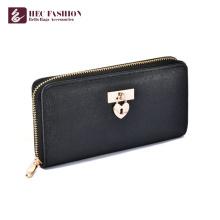 HEC Famosa marca de cartão de crédito de segurança Black Lady Wallet