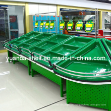Supermarkt Acryl Obst und Gemüse Display Lagerregal