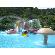Oem Fiberglass Kids' Water Playground System, Swimming Pool Play Equipment