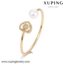 51736 jóias de liga de cobre xuping, em forma de coração pérola mulheres pulseira
