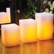 gerçek wax kare flameless LED mum