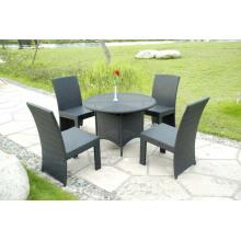 Conjunto de jardim alumínio dobrável KD Design cadeira mesa de jantar