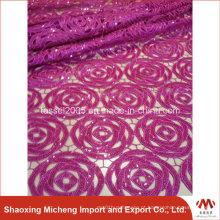 Edite o laço químico africano de venda quente para o vestido de casamento / laço de alta qualidade do cabo da guipura do africano