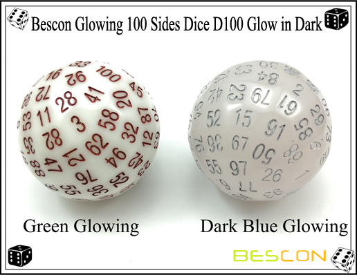 Bescon Glowing 100 Sides Dice D100 Glow in Dark-4