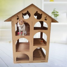 Playhouse chat en carton pour chat