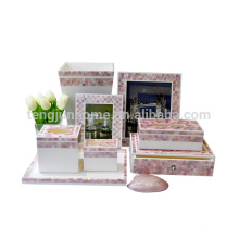 8 pcs mother of pearl shell pink hotel washroom amenities