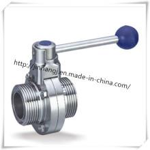 Нержавеющая сталь Гигиеничный клапан-бабочка DIN-резьба