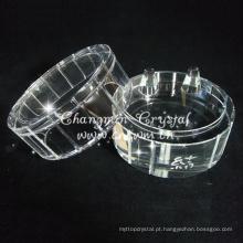Caixa de jóias de cristal bonito, ornamento de cristal