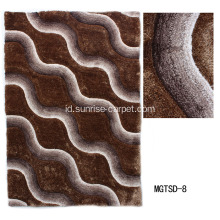 Polyester Soft & Silk Shaggy Carpet dengan Microfiber Low Pile Design