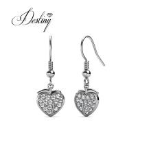 Fashion Accessories Crystal Jewelry Pomona Hook Peach Fruit Earrings