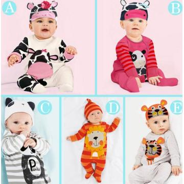 2016 Long Sleeve Animal Baby Bodysuits in Children Rompers Clothes
