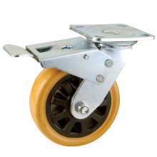 Double Ball Bearing Total Brake Type PU Caster (KHX4-H9)