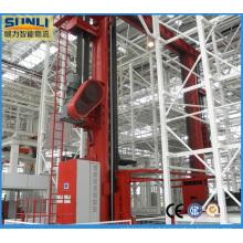Sistema automático de armazenamento e recuperação de paletes