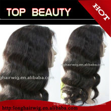 100% brazilian human hair long wavy wigs drop shipping