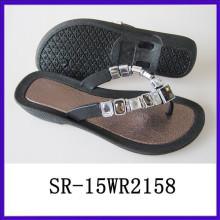 New design shiny fashion beach sandal shoe young fashion shoes acrylic shoe