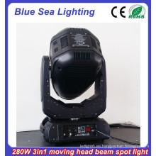 2015 Nueva luz de cabeza móvil 10R 280w 3in1 iluminación escénica