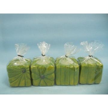 Pumpkin Candlestick Shape Ceramic Crafts (LOE2366-E5z)