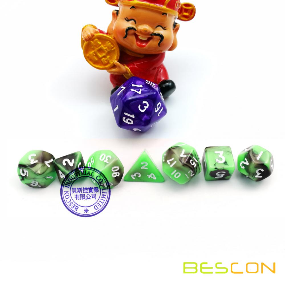 Juego de 7 Mini Dimensiones Gemini Polyhedral Role Playing Game Dice 12MM
