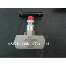 Válvula de agulha de aço inoxidável de alta pressão