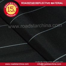 Soft reflective polyester fabric with silver thread