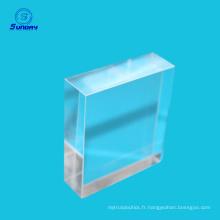 Optique k9 verre carré rectangulaire prisme