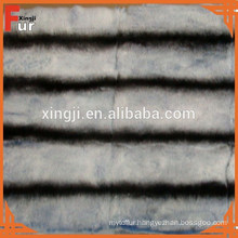 Dyed rex rabbit fur in chinchilla design