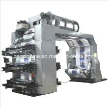 6 цветов Высокоскоростная печатная машина Flexo