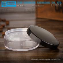 HJ-PR30 30g Lisa e lustrosa terminar o corpo de clara jar difícil tampão de plástico preto como frasco cosmético