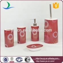 Modern Beautiful Fireworks Red Ceramic Bathroom Accessories