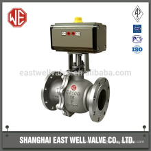 Pneumatic wafer ball valve