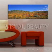 Impressão panorâmica moderna da lona do cenário para a sala de visitas