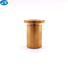 Customized CNC turning machined brass metal part hollow tube