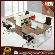4 person office desk with cabinet /office furniture