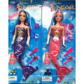 Children 11.5 Inch Mermaid Doll Toy for Christmas with Light Battery
