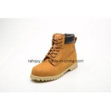 Calçado de segurança de cimento de borracha de couro Nubuck (LZ5003)