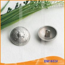 Botón de aleación de zinc y botón de metal y botón de costura de metal BM1653