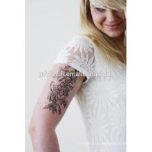Alta qualidade temporária costomized tatuagem adesivo (tatuagem de flor)
