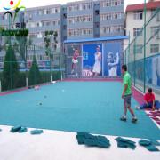 PP plastic materials tennis court interlocking mat
