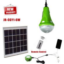 2015 neue CE hellen kleiner Generator für camping mit solar angetrieben, nach Hause Solarleuchte solar Beleuchtungs-Systeme