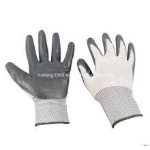 Gants blancs en nylon gris Nitrile, côté café, 38 g, 23 cm