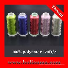Высокое качество 100% полиэстер вышивка нитью