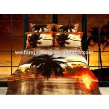 Impression 3D tissé 100% polyester tissu pour drap de lit