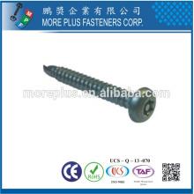 Taiwan BSW NO.8-18X1 / 2 '' Pan Head Torx Drive White Znic Plated Sicherheitsschraube