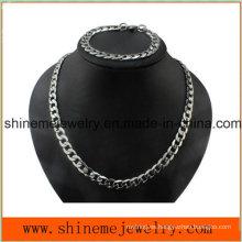 Shineme joyas collar de los hombres de flujo de diamante de acero inoxidable de espesor de la cadena (SSNL2618)
