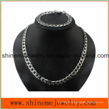 Shineme Jewelry Collier pour homme Flow Diamond Stainless Steel Thick Chain (SSNL2618)